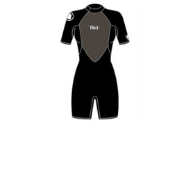 Гидрокостюм женский Body Glove 2015 Pro3 2/1MM Springsuit Shoty Black, 04BG505